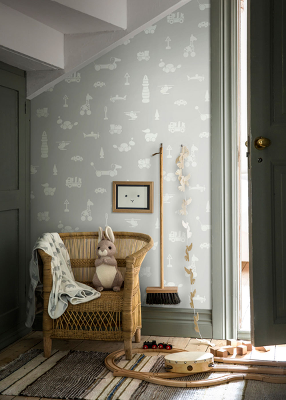 Boråstapeter Brio Icons Pale Grey  Wallpaper - Product code: 6239