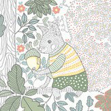 Boråstapeter Charlie Multi white Wallpaper