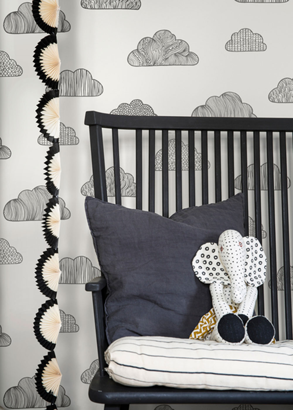 Boråstapeter Claudia Black and White Wallpaper - Product code: 6255