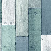 Wemyss Wooden Wall Pewter Wallpaper - Product code: 35-Aqua
