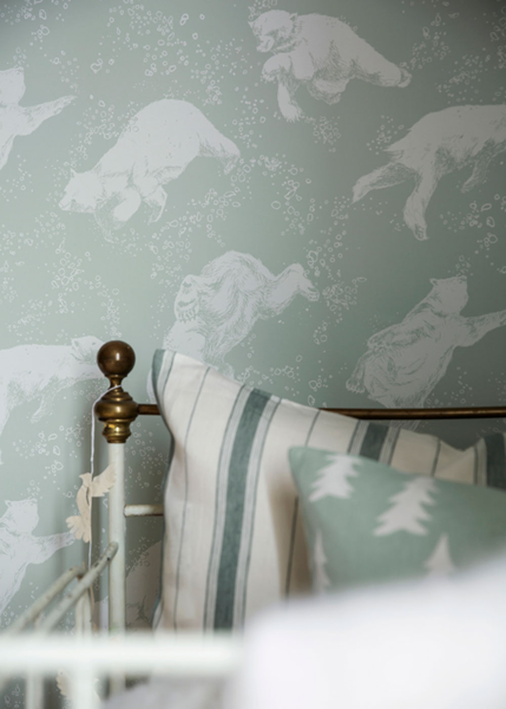Boråstapeter Polarn Sea Green Wallpaper - Product code: 6258