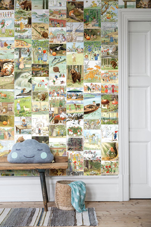 Boråstapeter Elsa Beskow Sagostund Multi Mural - Product code: 6267