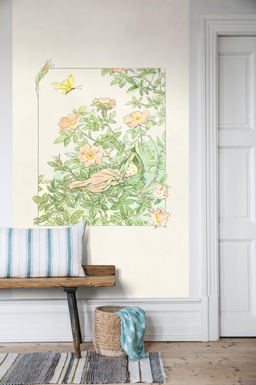 Princessan Nyponblom Mural - Rose pink - by Boråstapeter