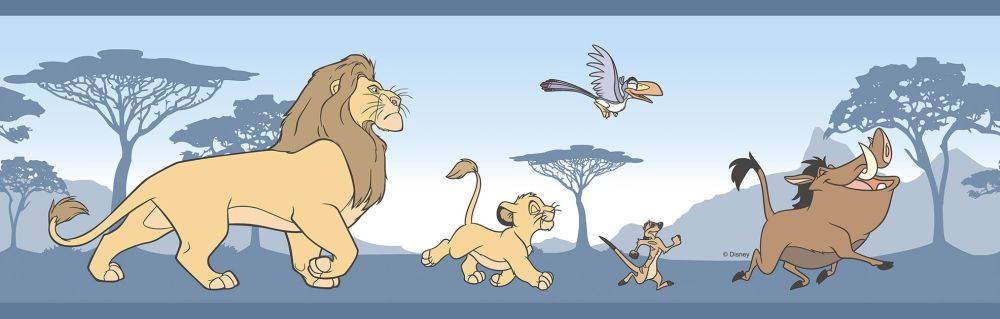 Galerie The Lion King Border Blue - Product code: RL3522-1