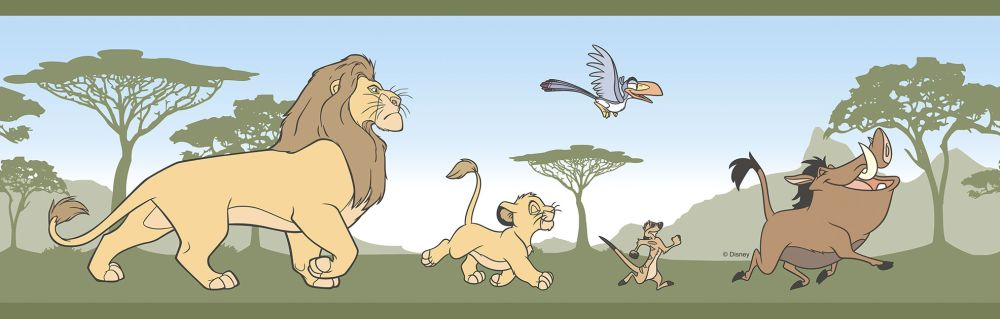 Galerie The Lion King Border Green - Product code: RL3522-3