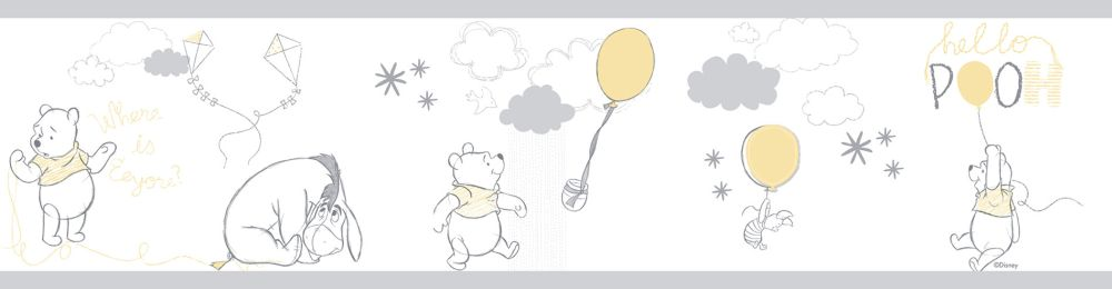 winnie the pooh border by galerie grey border wallpaper direct