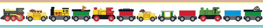 Boråstapeter Brio Trains Multi Border - Product code: 6281