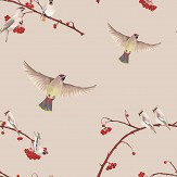 Petronella Hall Waxwing Berry Blush Wallpaper