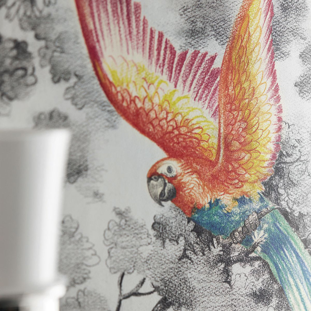 Birds of Paradise Mural - Charcoal - by Kandola
