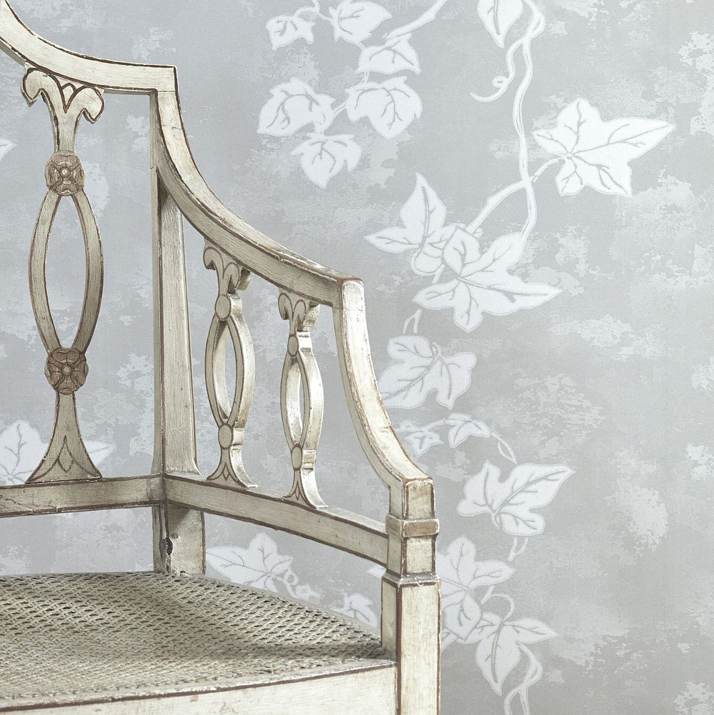 Ivy Wallpaper - Aged Grey - by Barneby Gates