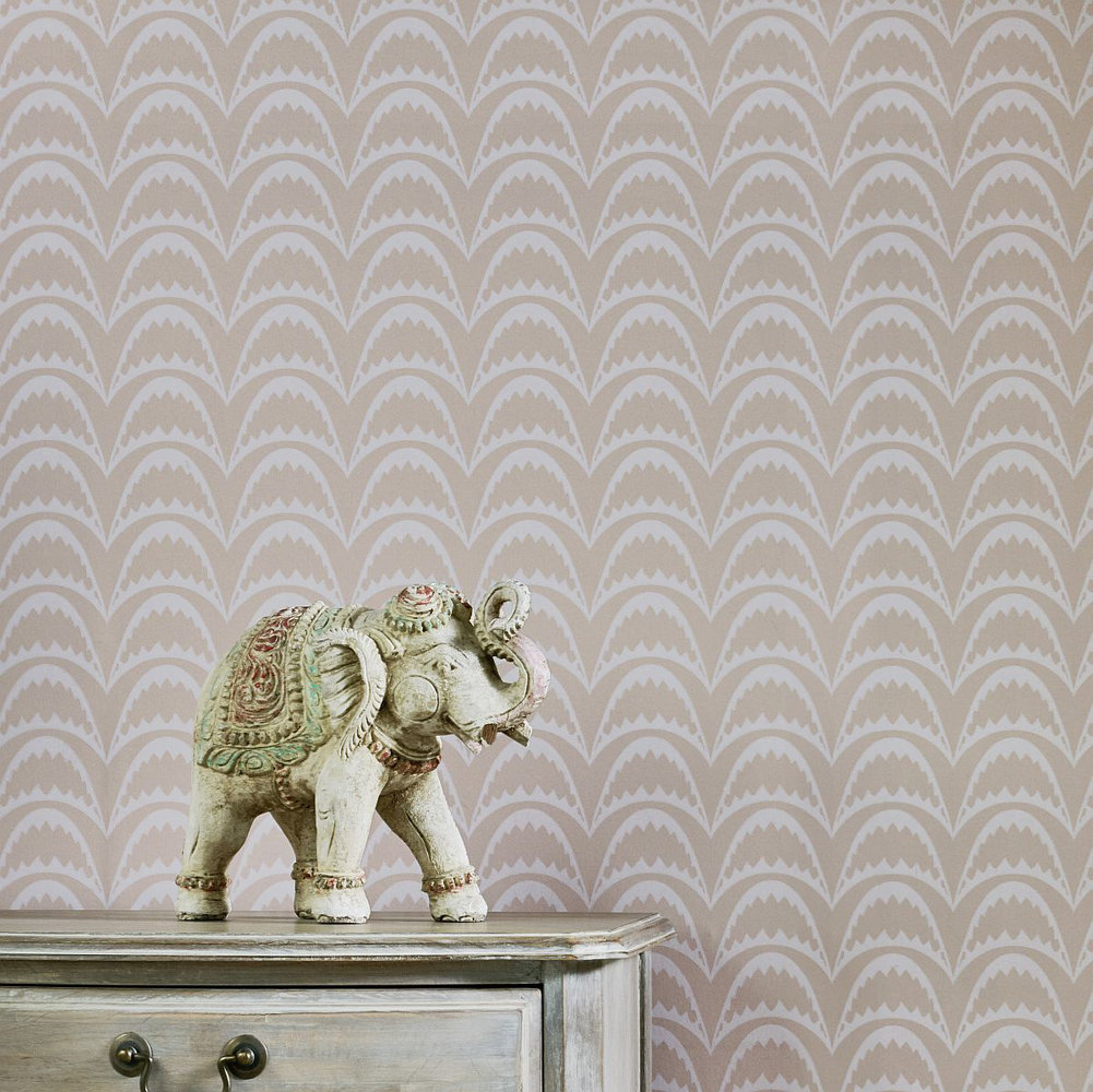 Arcade Wallpaper - Pastel Pink - by Barneby Gates