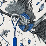 Clarke & Clarke Audubon Blue Wallpaper - Product code: W0099/01
