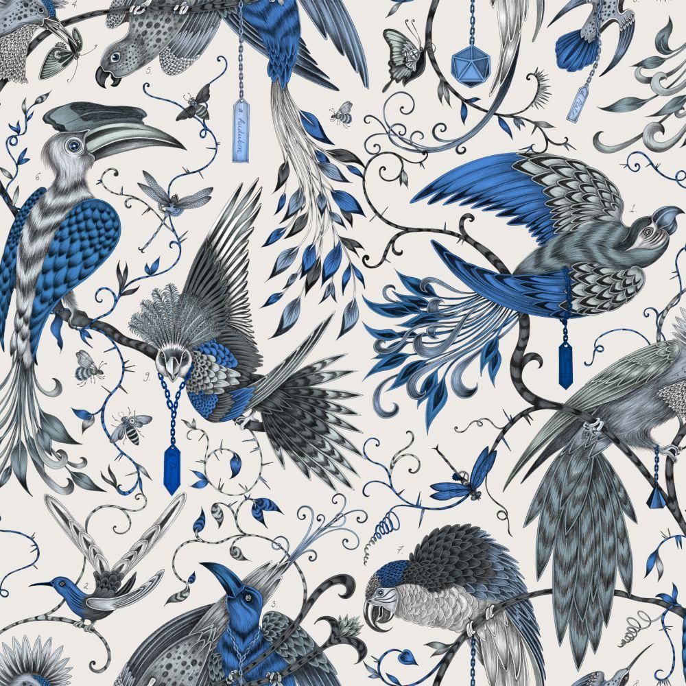 Clarke & Clarke Audubon Blue Wallpaper - Product code: W0099/01