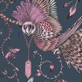 Clarke & Clarke Audubon Pink Wallpaper - Product code: W0099/04