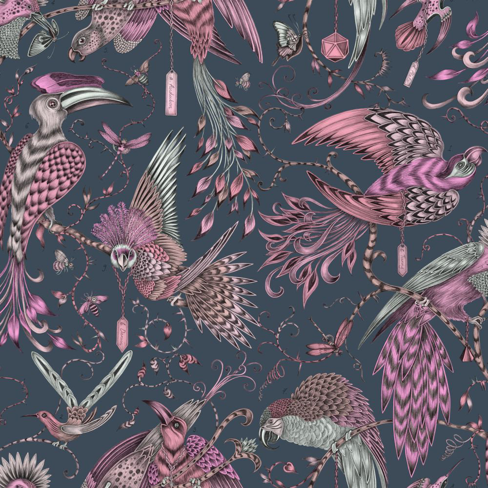 Clarke & Clarke Audubon Pink Wallpaper main image