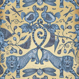 Clarke & Clarke Extinct Blue Wallpaper - Product code: W0100/01
