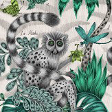 Emma J Shipley Lemur Green Wallpaper - Product code: W0103/01
