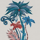 Clarke & Clarke Jungle Palms  Blue Wallpaper - Product code: W0101/01