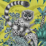 Emma J Shipley Lemur Lime Wallpaper - Product code: W0103/02