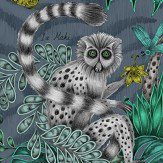 Emma J Shipley Lemur Navy Wallpaper - Product code: W0103/03