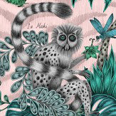 Clarke & Clarke Lemur Pink Wallpaper