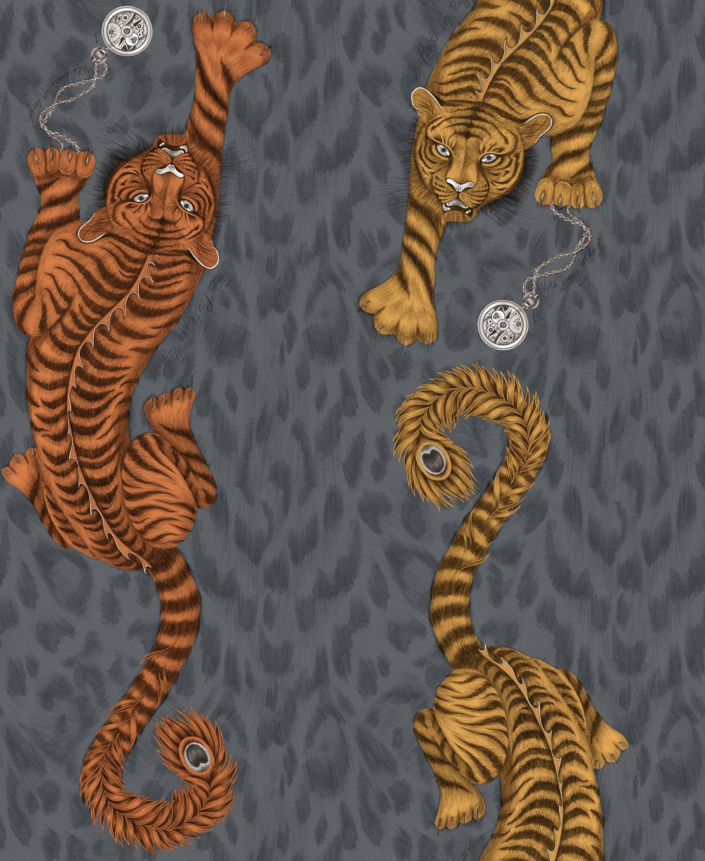 Clarke & Clarke Tigris Flame Wallpaper - Product code: W0105/01