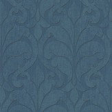 Eijffinger Distressed Damask Teal Wallpaper - Product code: 376003