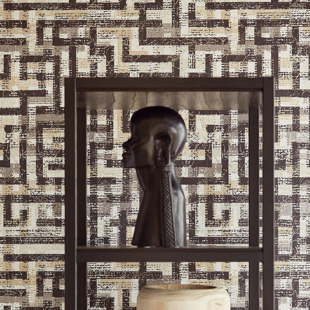 Eijffinger Blocks Black Wallpaper - Product code: 376011