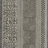 Eijffinger Tapestry Stripe Black / Champagne Wallpaper