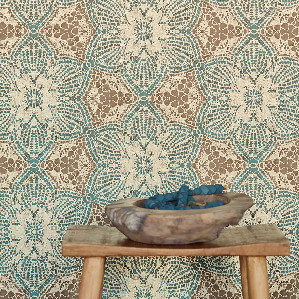 Eijffinger Mosaic Star Teal Wallpaper - Product code: 376052