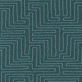 Eijffinger Line Work Teal Wallpaper