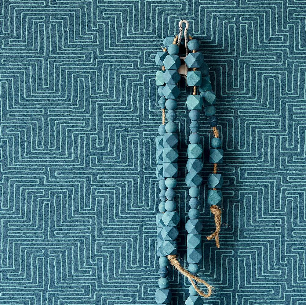 Eijffinger Line Work Teal Wallpaper - Product code: 376060