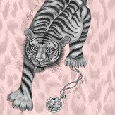 Clarke & Clarke Tigris Pink Wallpaper - Product code: W0105/04