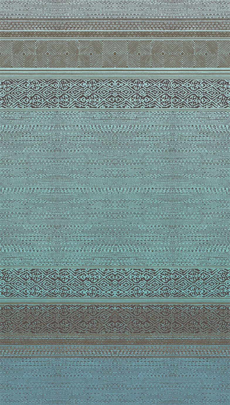Eijffinger Tapestry Teal Mural - Product code: 376090