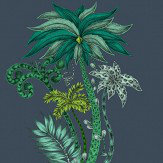 Emma J Shipley Jungle Palms Navy Wallpaper - Product code: W0101/03