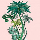 Clarke & Clarke Jungle Palms Pink Wallpaper - Product code: W0101/04