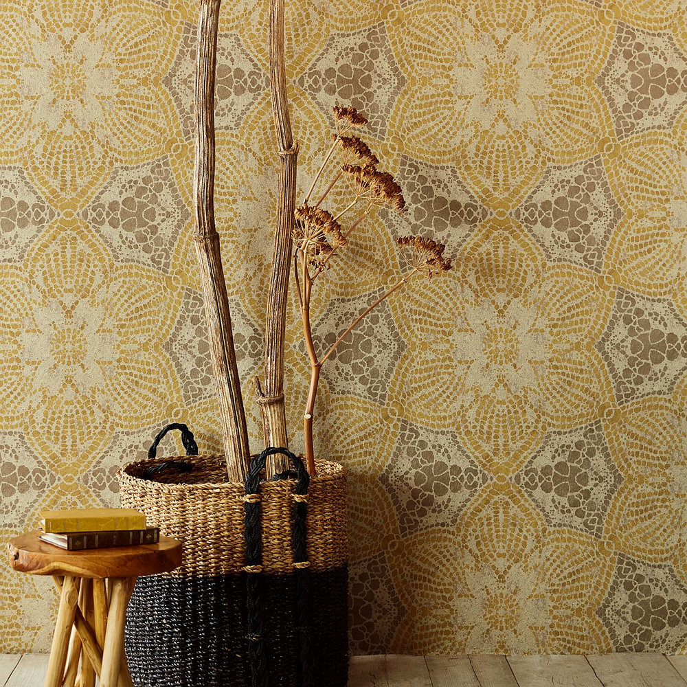 Eijffinger Boho Flower Ochre Mural - Product code: 376095