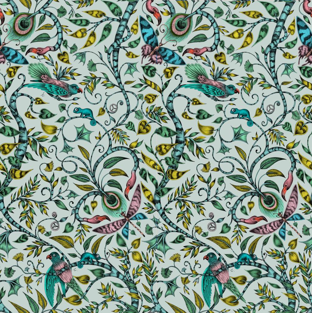 Clarke & Clarke Rousseau Eggshell Wallpaper - Product code: W0104/02