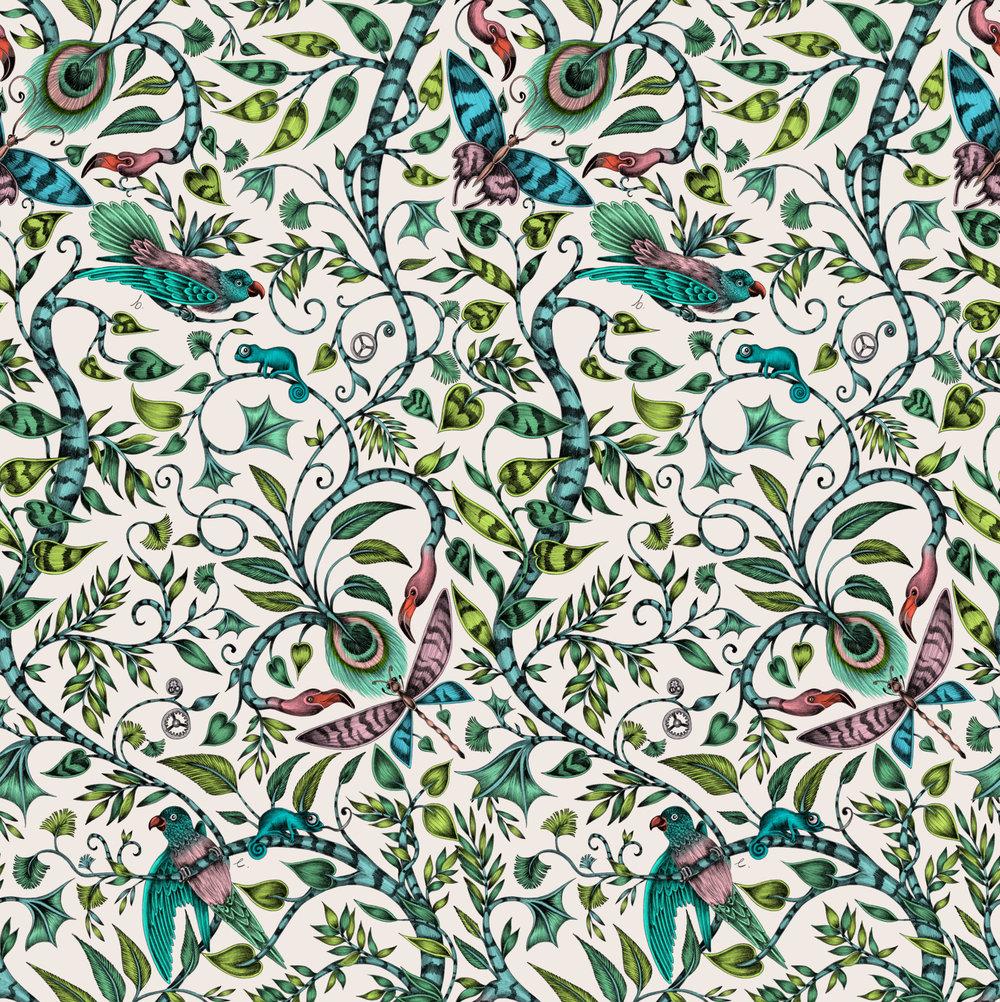 Clarke & Clarke Rousseau Jungle Wallpaper - Product code: W0104/03