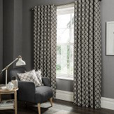 Studio G Castello Eyelet Curtains Charcoal  Ready Made Curtains - Product code: M1103/01/46X9