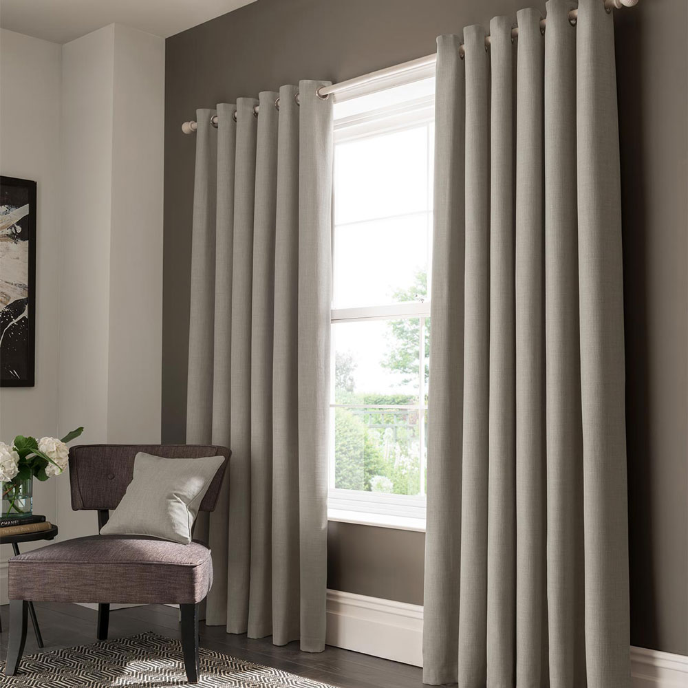 Studio G Elba Eyelet Curtains Feather Ready Made Curtains - Product code: M1104/01/46X5
