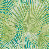 Albany Palm Leaves Jade Wallpaper