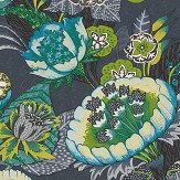 Albany Bohemian Flower Midnight Blue Wallpaper