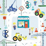 Albany Roadworks Ahead Blue Wallpaper