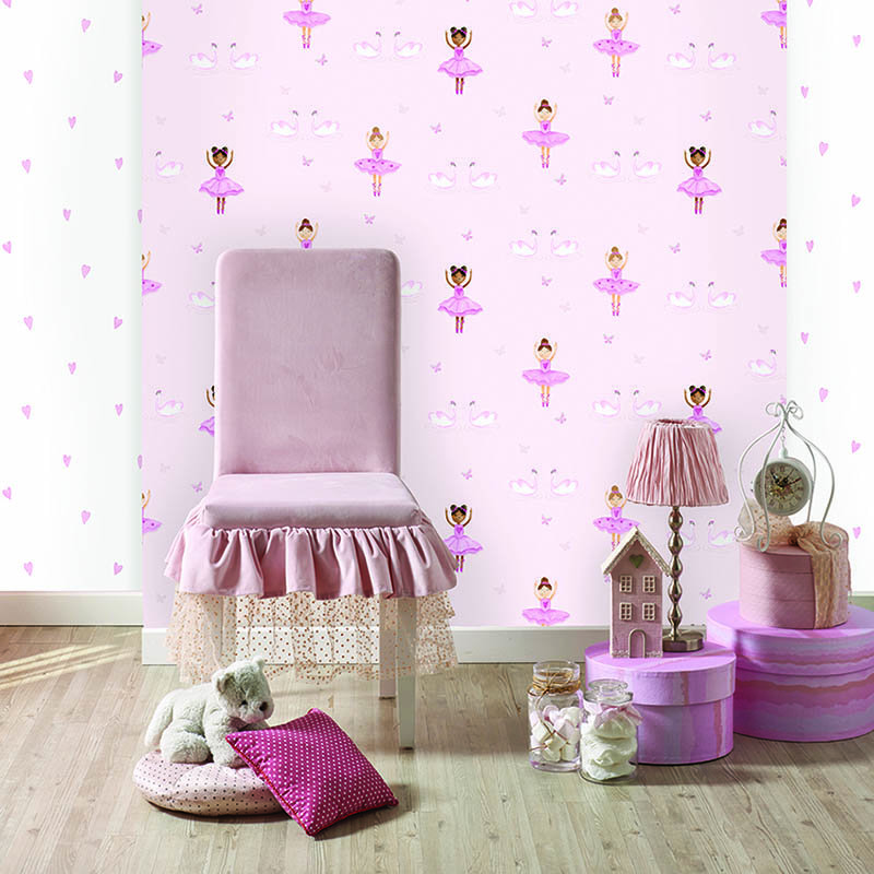 Ballerina Wallpaper - Pink - by Albany