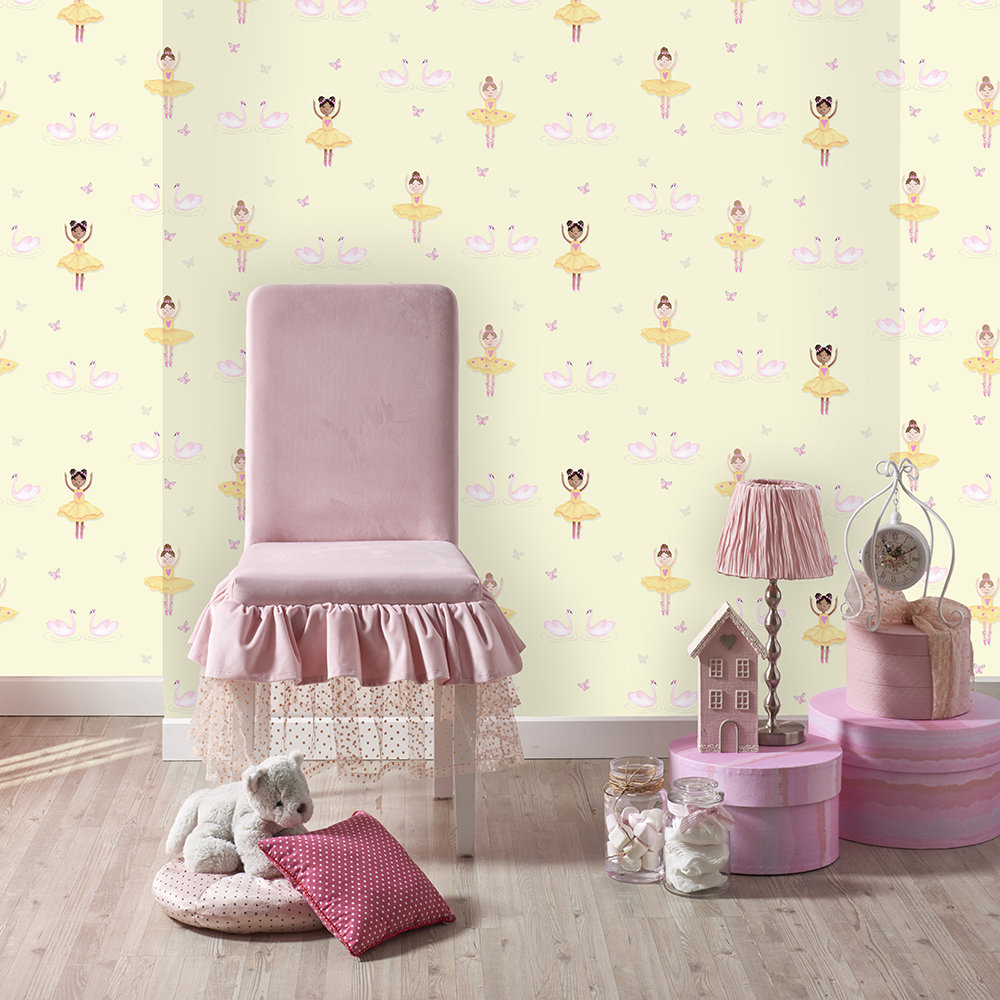 Albany Ballerina Yellow Wallpaper - Product code: 12462