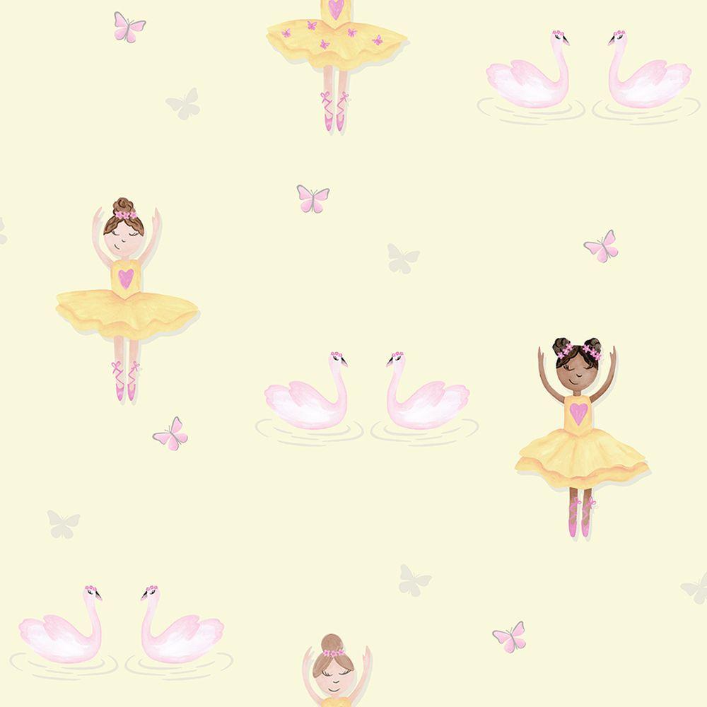 Albany Ballerina Yellow Wallpaper - Product code: 12462