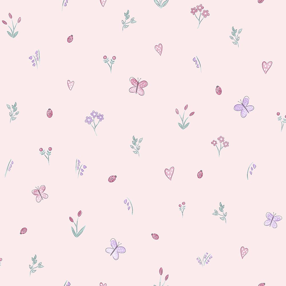 Albany Butterfly Garden Pink Wallpaper - Product code: 12470