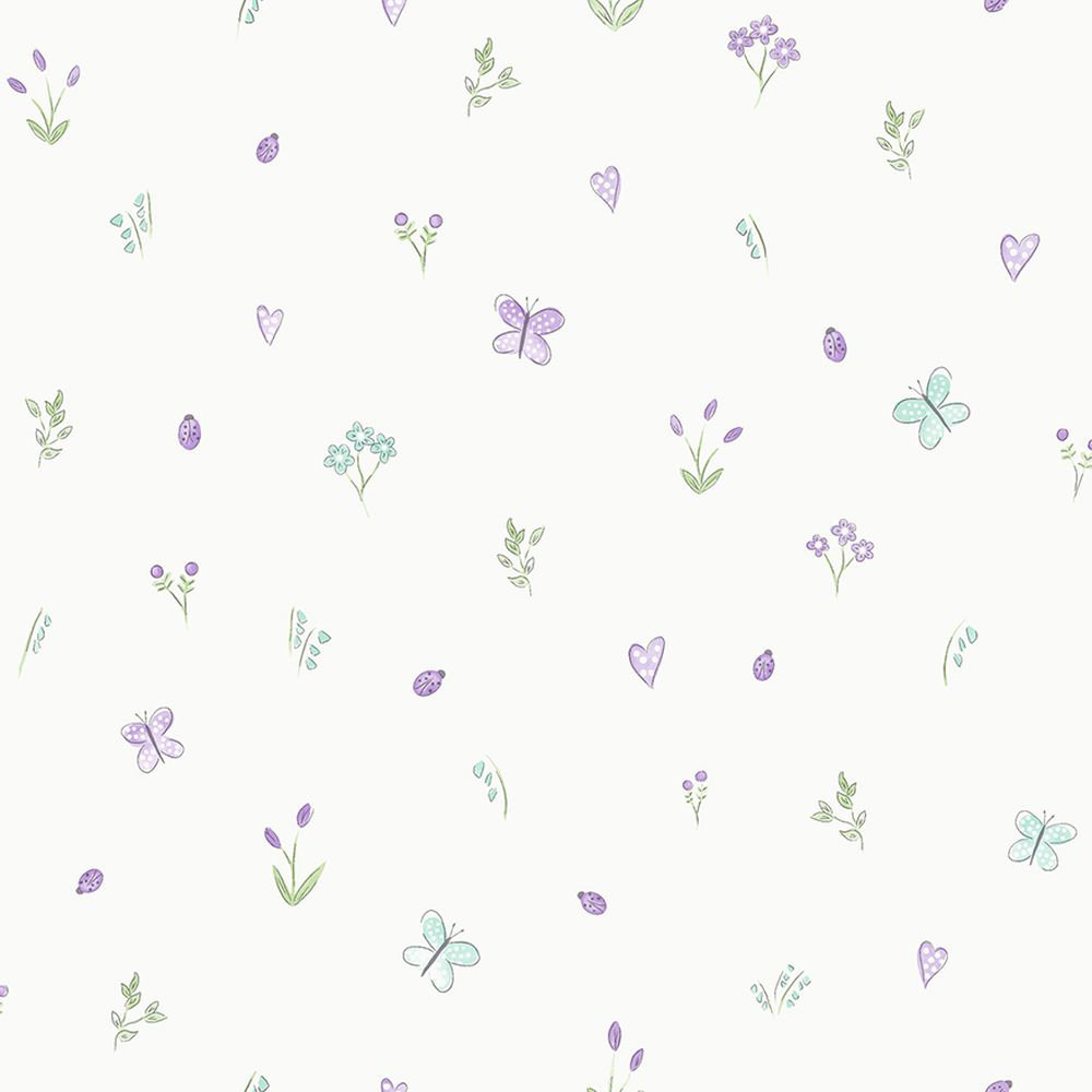 Albany Butterfly Garden Heather Wallpaper main image