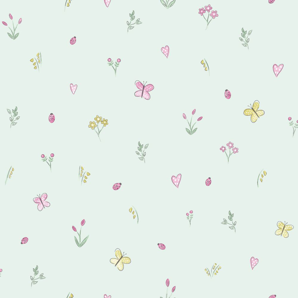Albany Butterfly Garden Teal Wallpaper - Product code: 12472